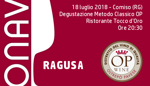 Degustazione Metodo Classico OP con ONAV Ragusa