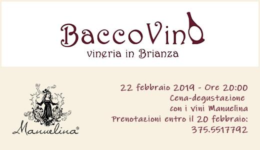 Cena-degustazione da Baccovino (22/02/2019)