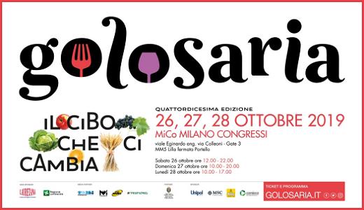 Golosaria 2019 (Milano, 26-28 ottobre 2019)