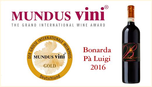 Mundus Vini 2021 - Gold Medal per la Bonarda Pà Luigi 2016